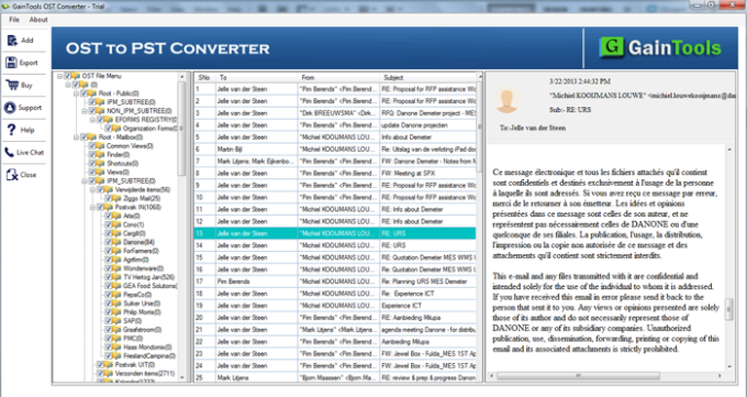 GainTools OST to PST Converter