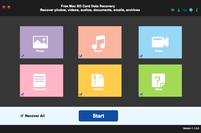 Free Mac SD Card Data Recovery