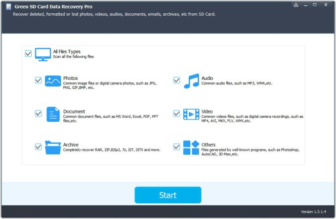 Green SD Card Data Recovery Pro