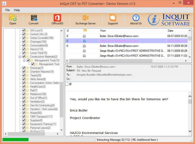 InQuit OST to PST Converter Toolbox
