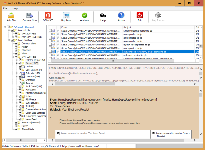 Vartika Outlook PST Recovery Software