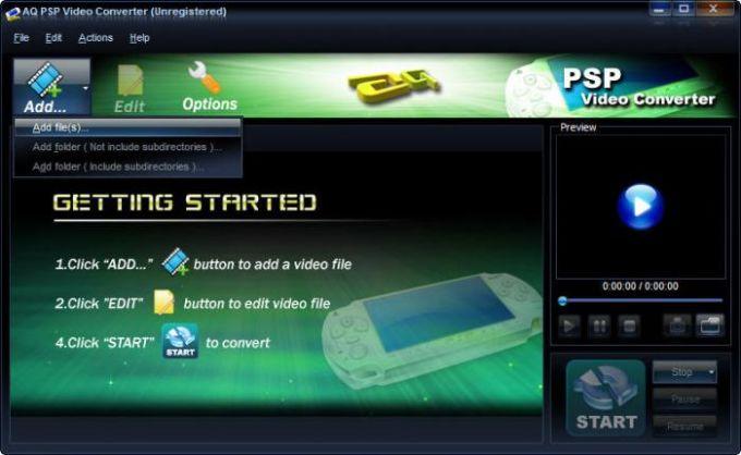 AQ PSP Video Converter