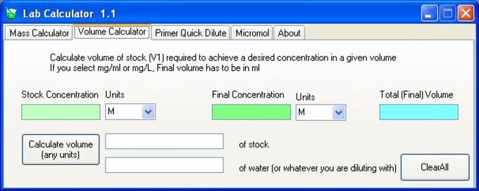 Lab Calculator