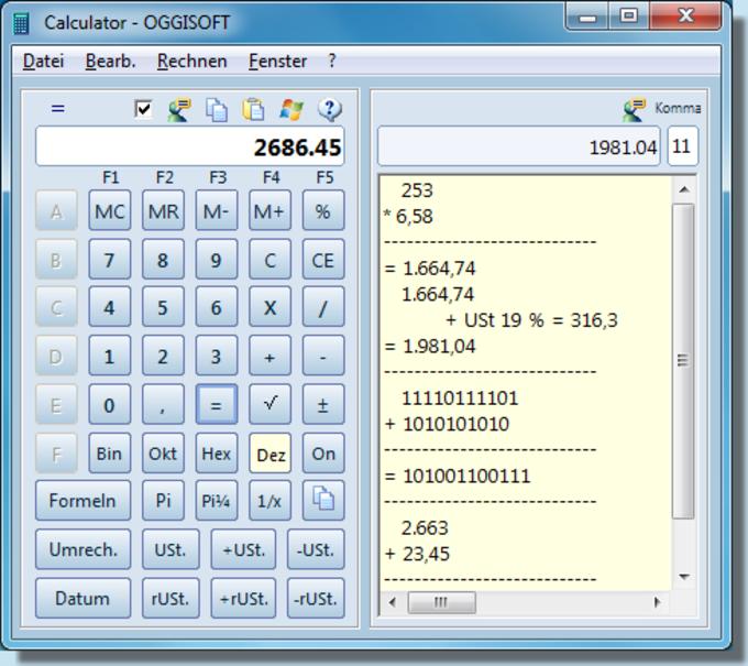 Oggisoft Calculator