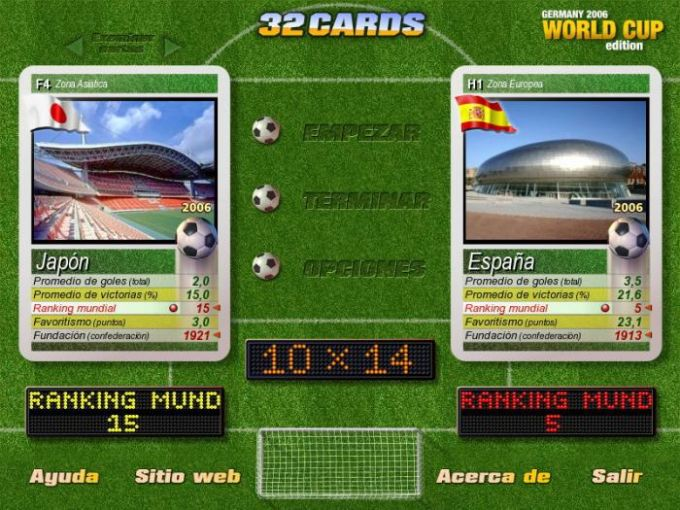 32 Cards World Cup Edition