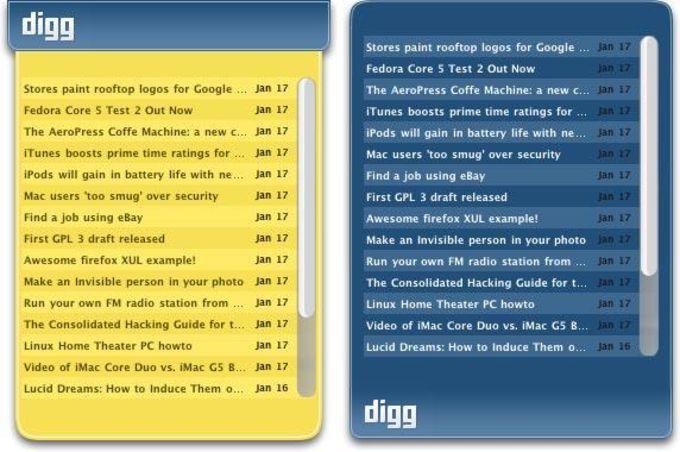 Digg.com RSS Widget