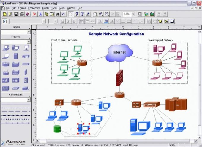 Pacestar LanFlow Net Diagrammer