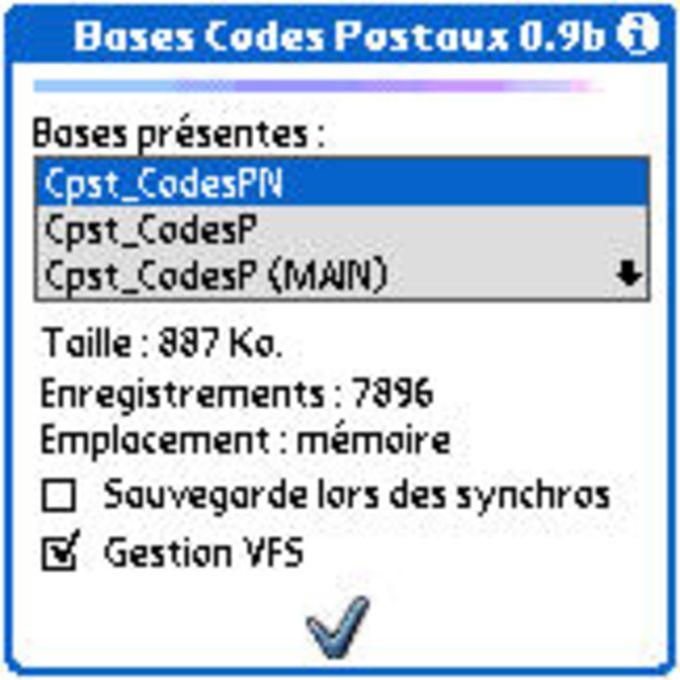 Codes Postaux