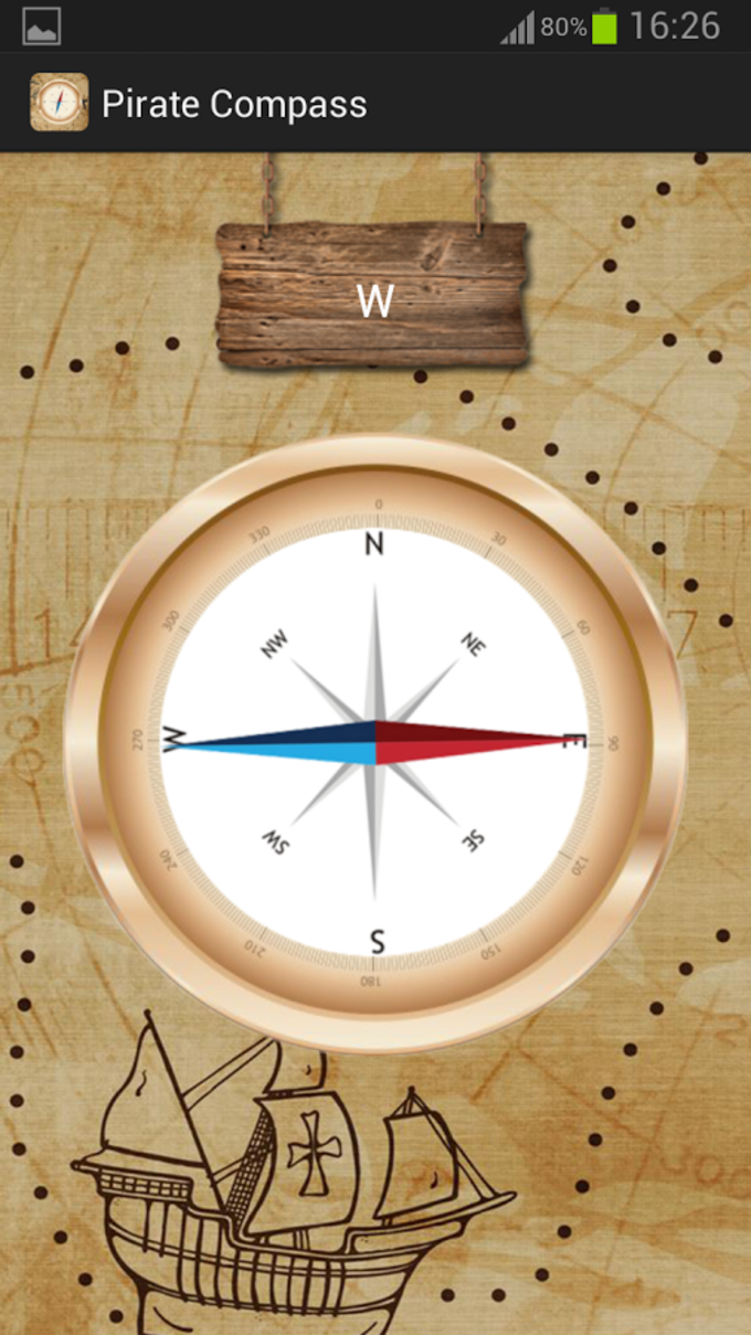 Pirate magnetic compass app