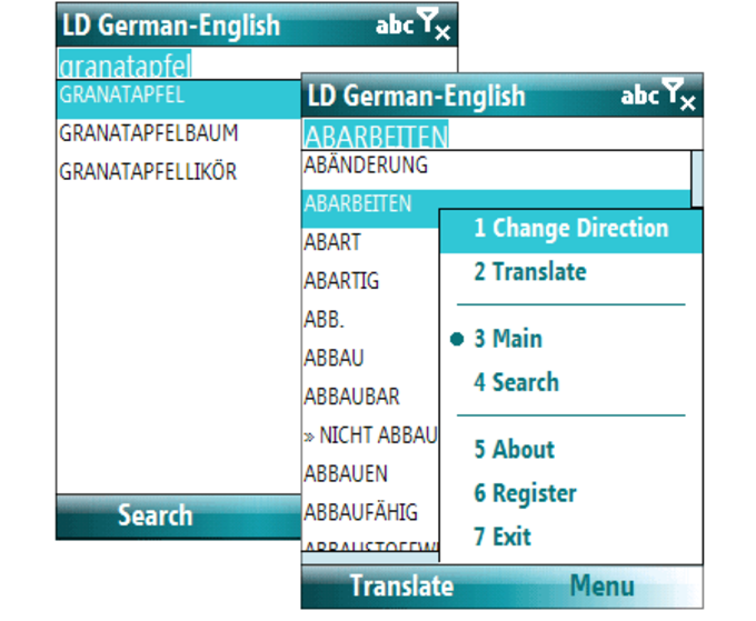Apps f r windows mobile downloaden for Dictionary englisch deutsch