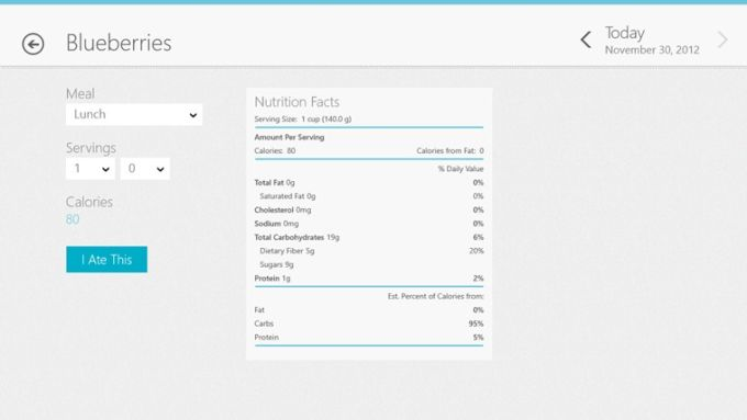 Livestrong.com Calorie Tracker for Windows 10