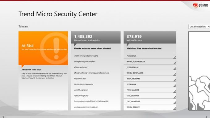 Trend Micro Security Center for Windows 10