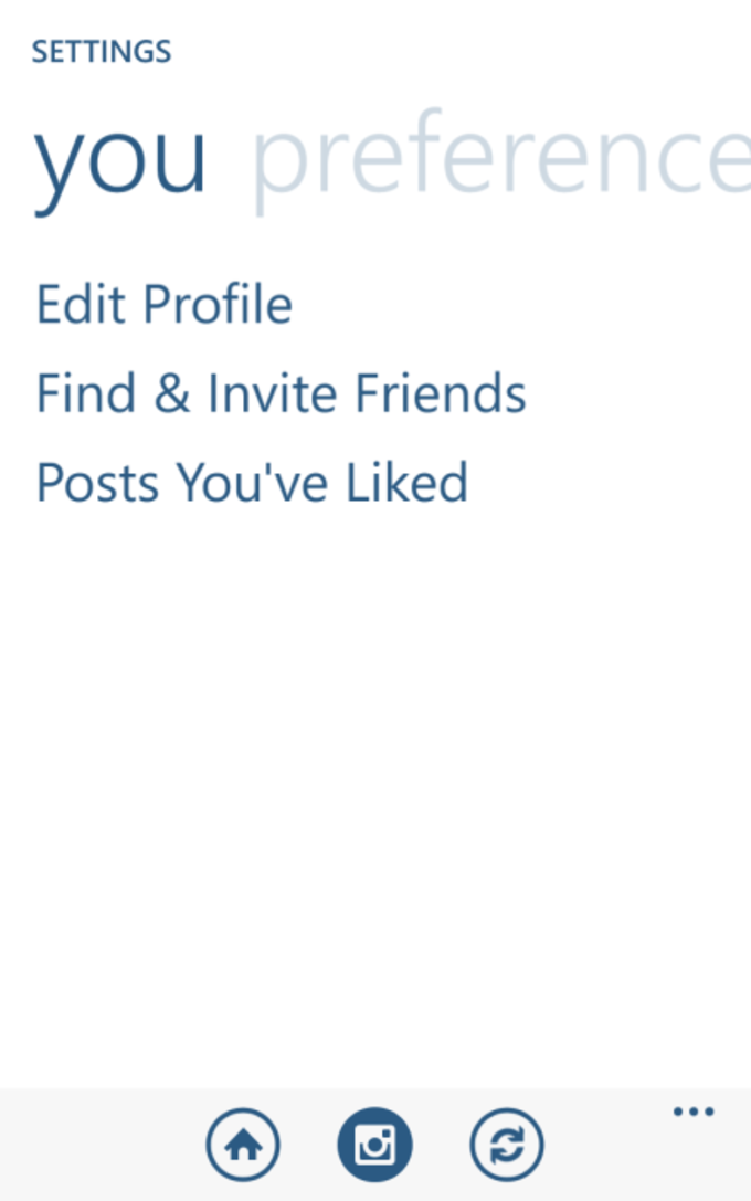 You can edit your Instagram profile from within the app