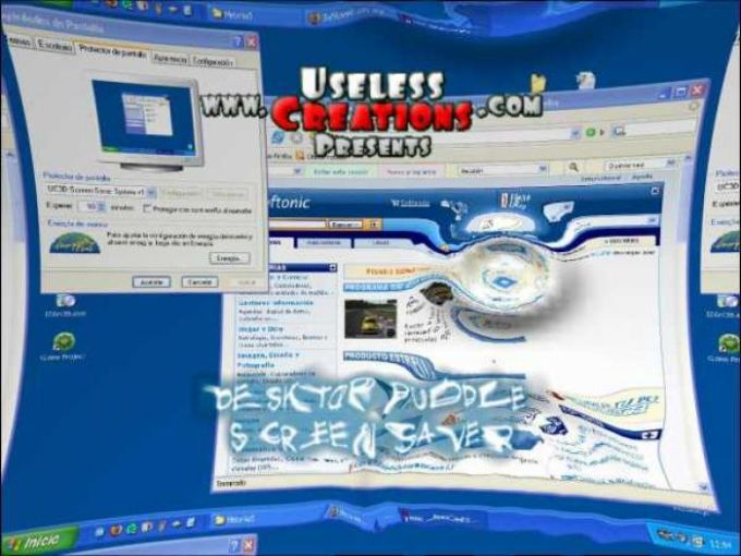 Desktop Puddle Screensaver