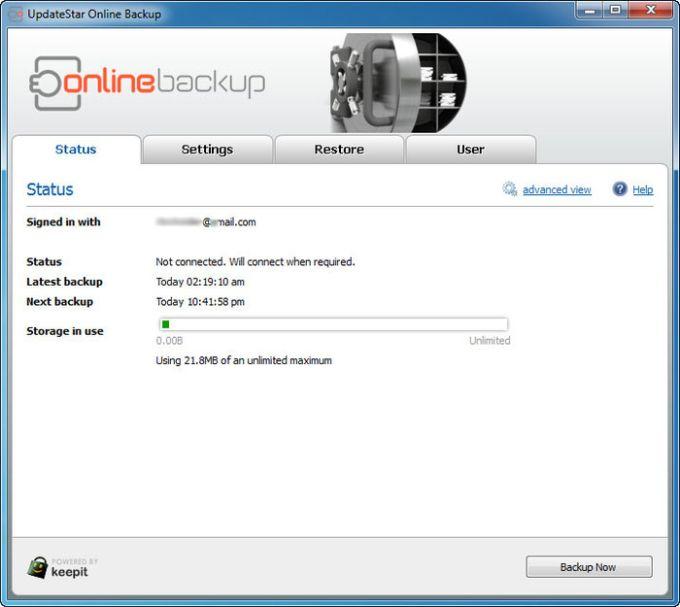 UpdateStar Online Backup