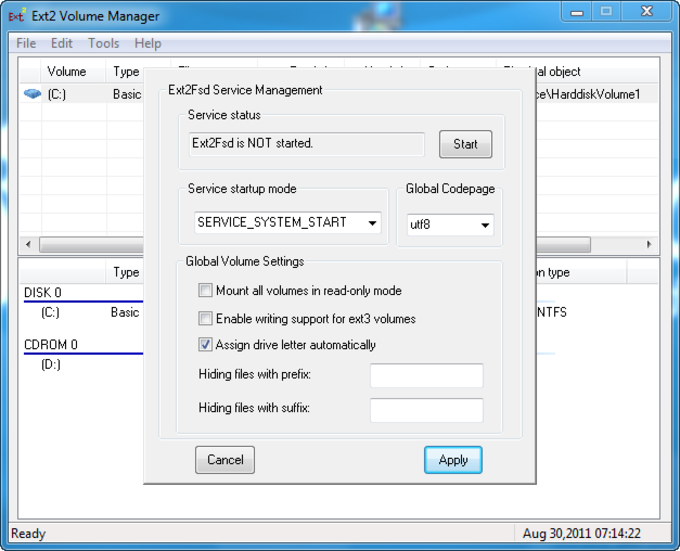 Ext2 File System Driver for Windows