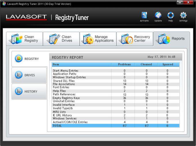 Lavasoft Registry Tuner