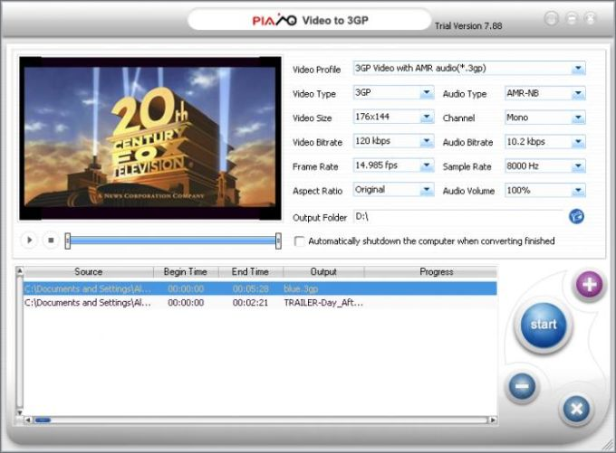 Plato Video to 3GP Converter