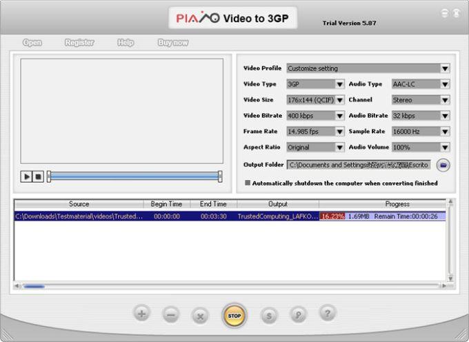 Plato Video to 3GP Converter