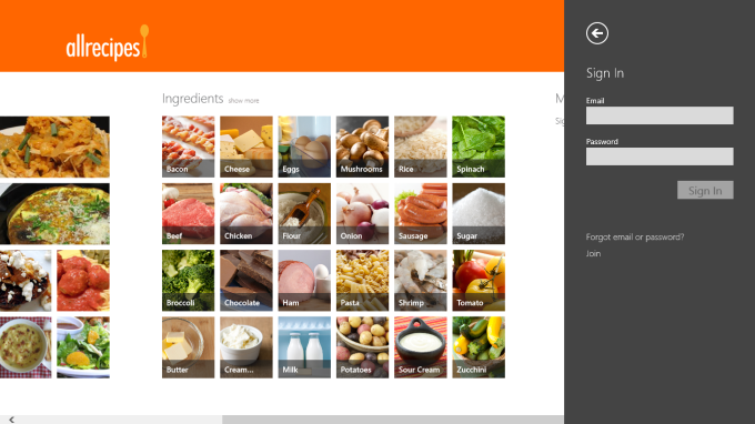 Allrecipes for Windows 10