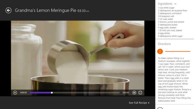 Video Cookbook for Windows 10