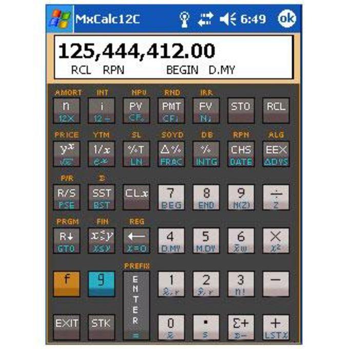 MxCalc 12c - Financial Calculator