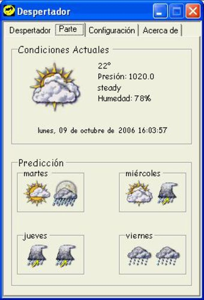 Despertador Meteorológico