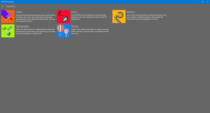 UWP Technical guide