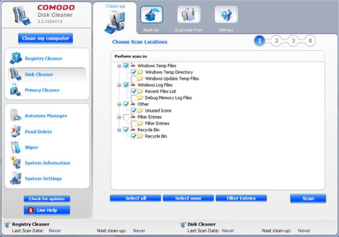 Comodo System Cleaner Portable