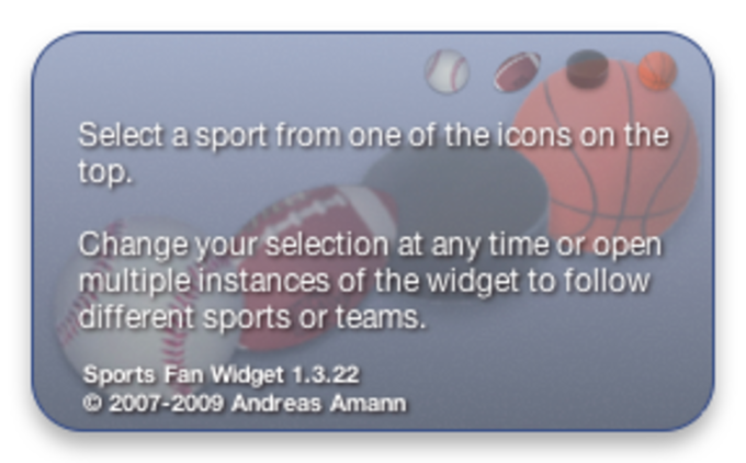 Sports Fan Widget