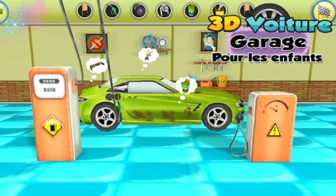 3D Car Garage For Kids