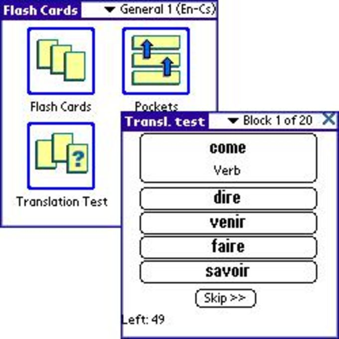 ECTACO FlashCards English - French