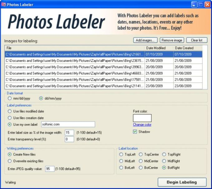 Photo Labeler