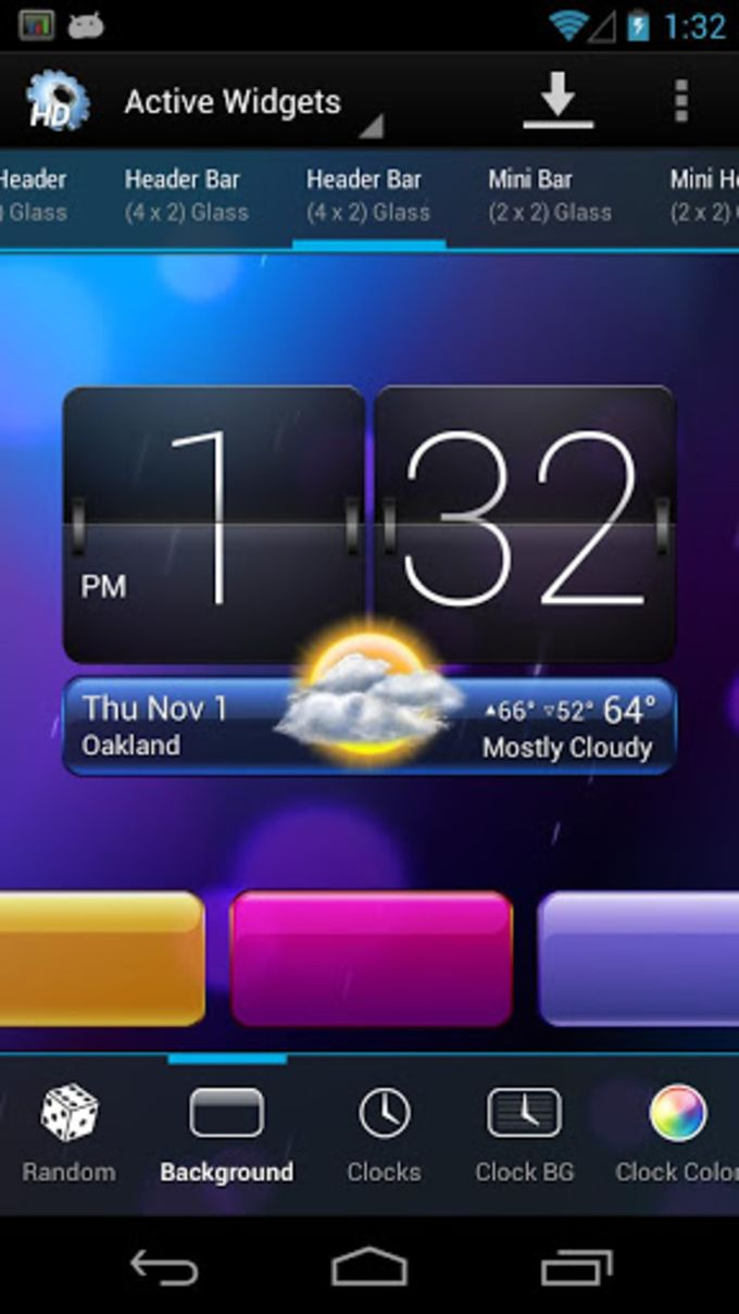 Hd Widget For android