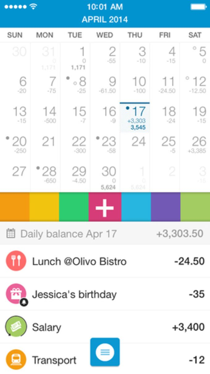 Dollarbird - Personal Finance with a Calendar