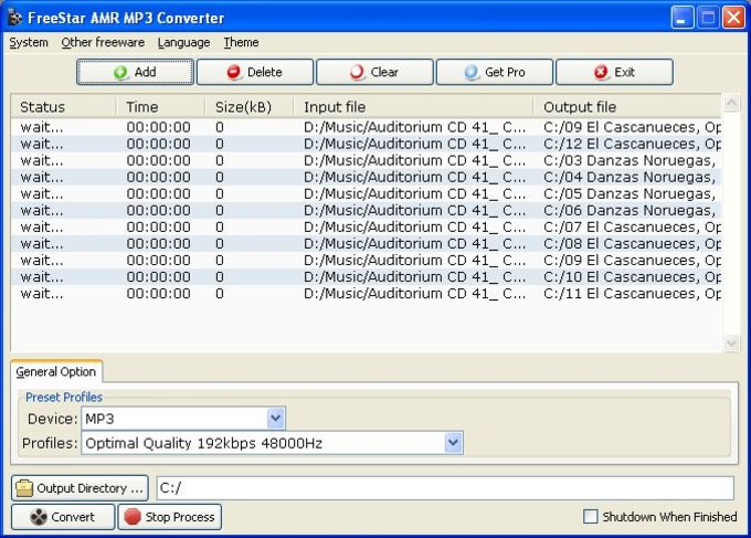 FreeStar AMR MP3 Converter