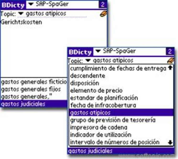 SAP Terms Spanish/German Dictionary