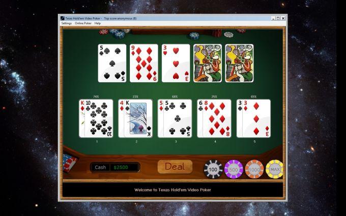 Texas Hold'em Video Poker