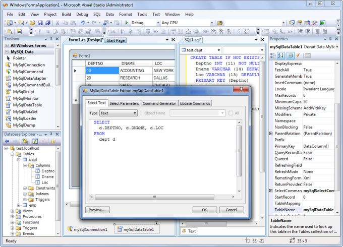 dotConnect for MySQL Professional