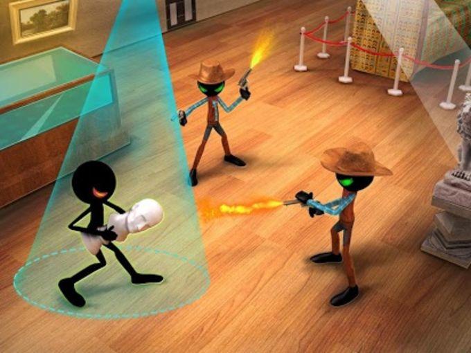 Stickman Museum Robbery Escape