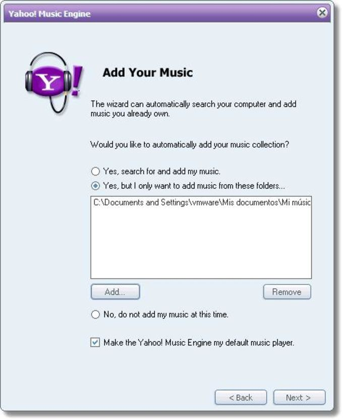 Yahoo Music Engine