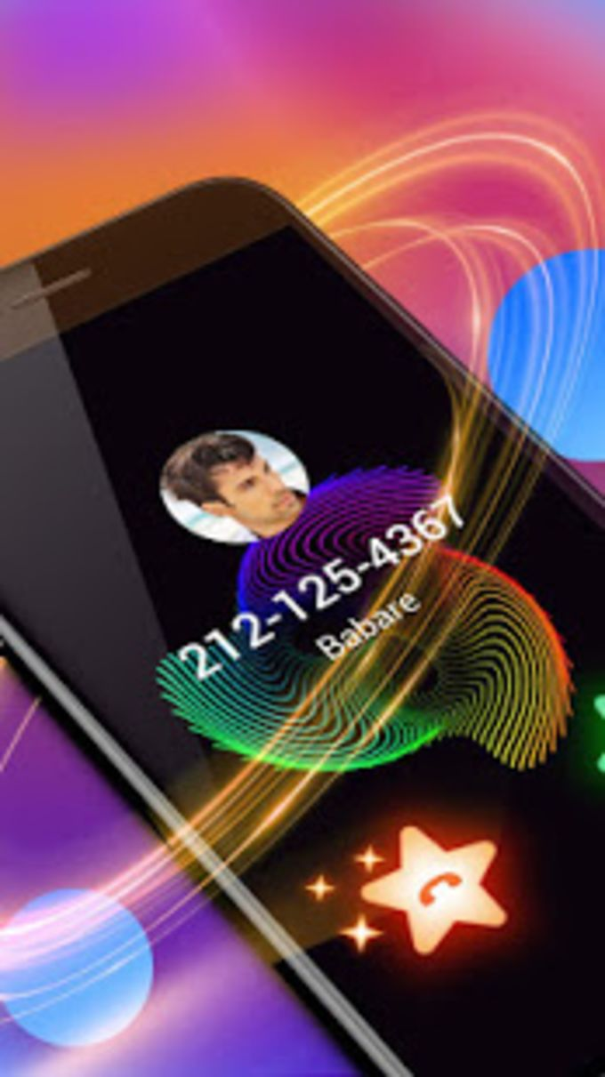 Colorful Lines Caller Screen
