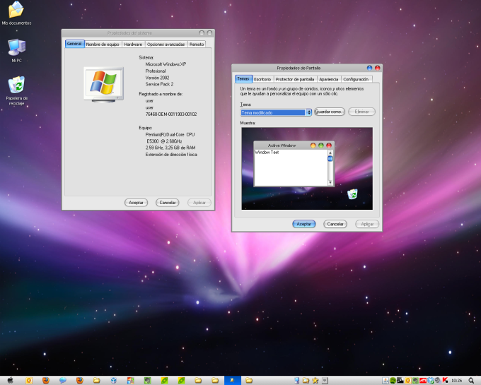 Windows Leopard XP OS X