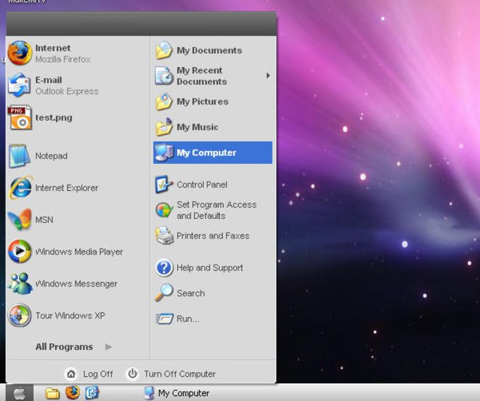 Tema Windows Leopard XP OS X