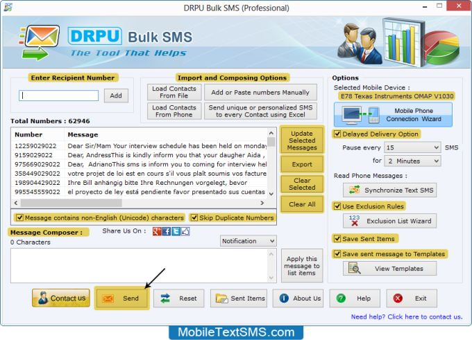 Text SMS Software – Professional