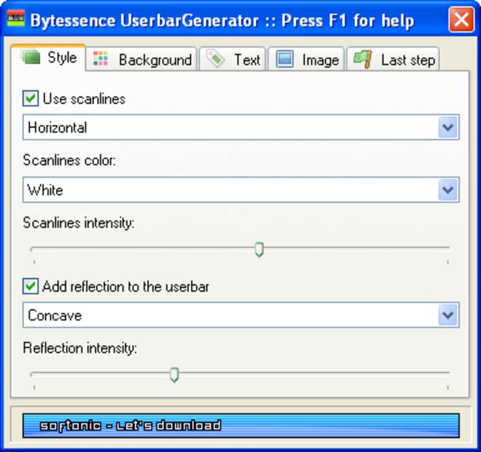 Bytessence UserbarGenerator