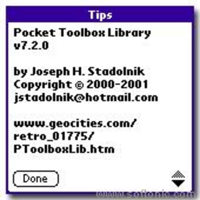 Pocket Toolbox Library