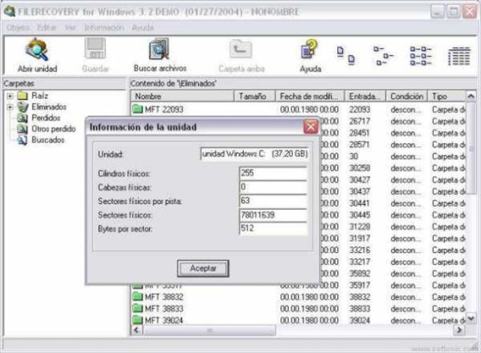 FileRecovery for Windows