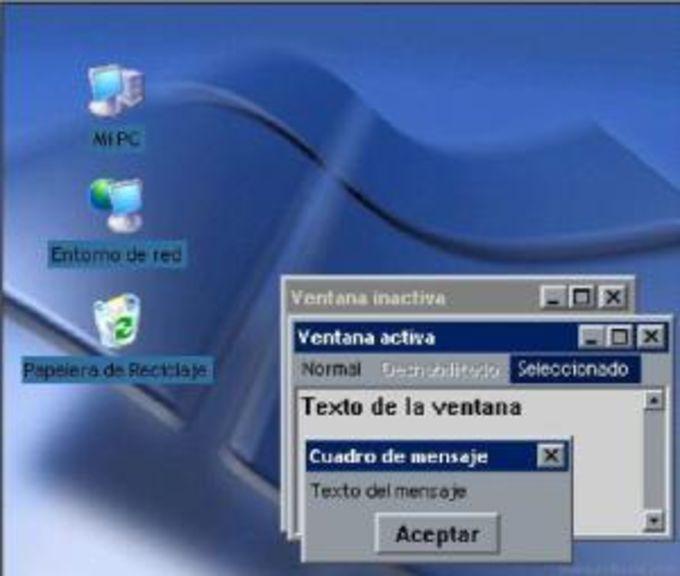 Windows XP Blue Desktop Theme