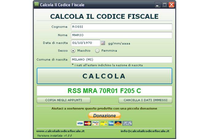 Calcola Il Codice Fiscale